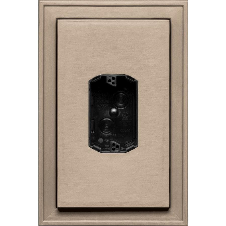 Builders Edge 8.125-in x 12-in Wicker Vinyl Electrical Mounting Block