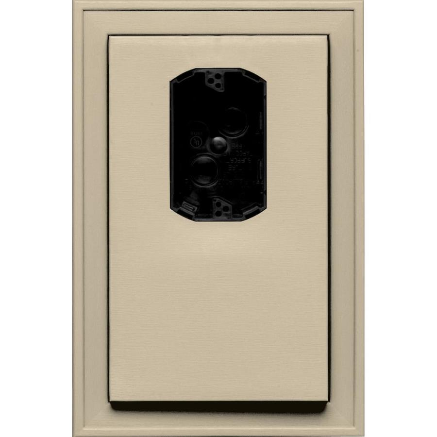 Builders Edge 8.125-in x 12-in Sandalwood Vinyl Electrical Mounting Block