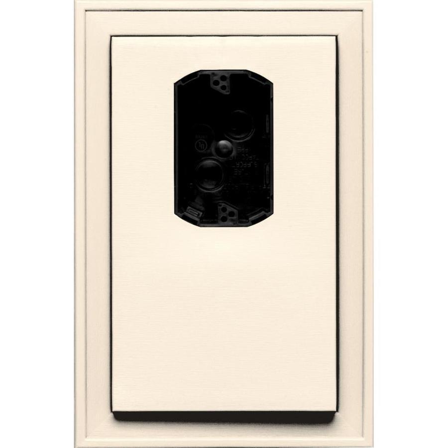 Builders Edge 8.125-in x 12-in Sandstone Beige Vinyl Electrical Mounting Block