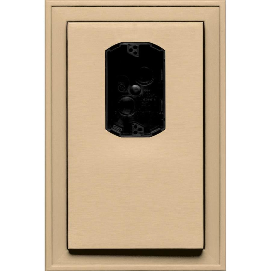 Builders Edge 8.125-in x 12-in Sandstone Maple Vinyl Electrical Mounting Block