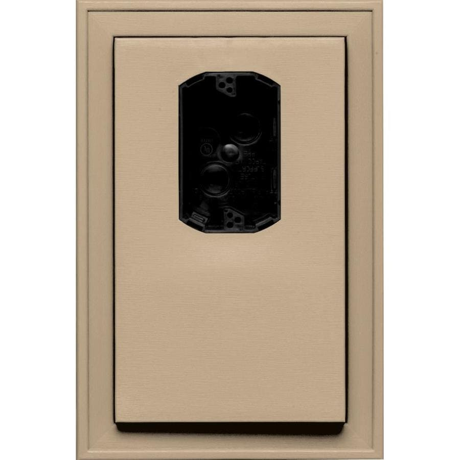 Builders Edge 8.125-in x 12-in Tan Vinyl Electrical Mounting Block