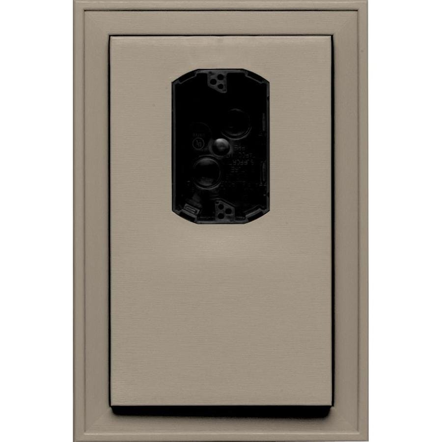 Builders Edge 8.125-in x 12-in Clay Vinyl Electrical Mounting Block