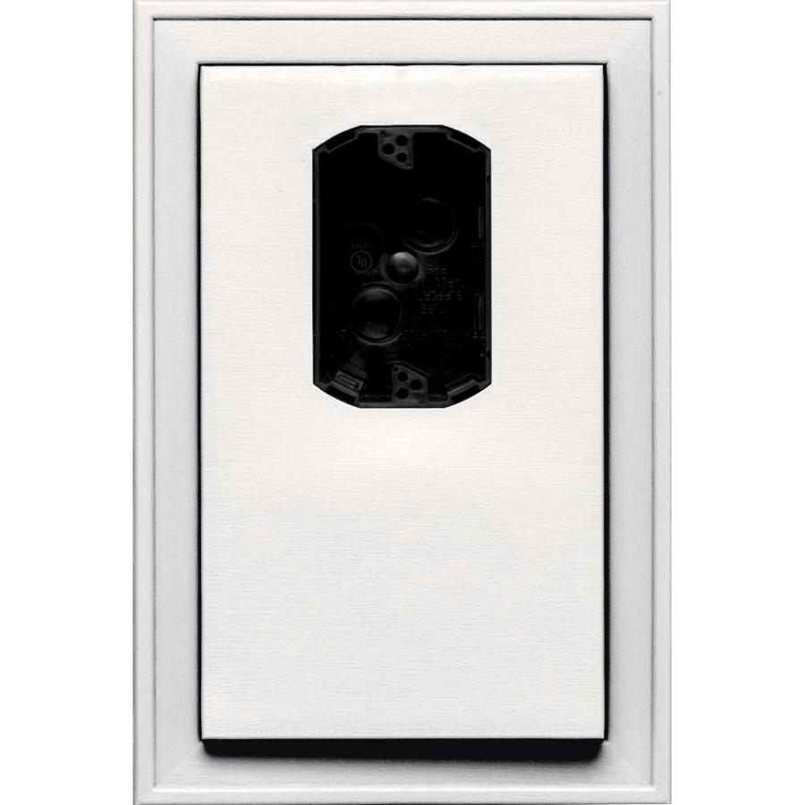 Builders Edge 8.125-in x 12-in Bright White Vinyl Electrical Mounting Block