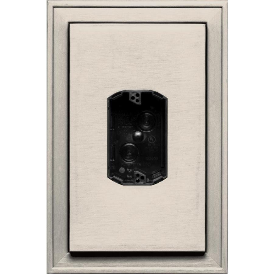 Builders Edge 8.125-in x 12-in Almond Vinyl Electrical Mounting Block