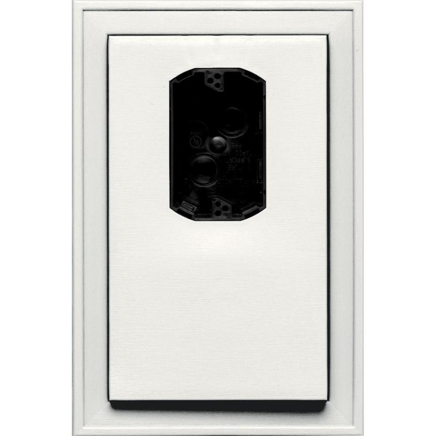 Builders Edge 8.125-in x 12-in White Vinyl Electrical Mounting Block