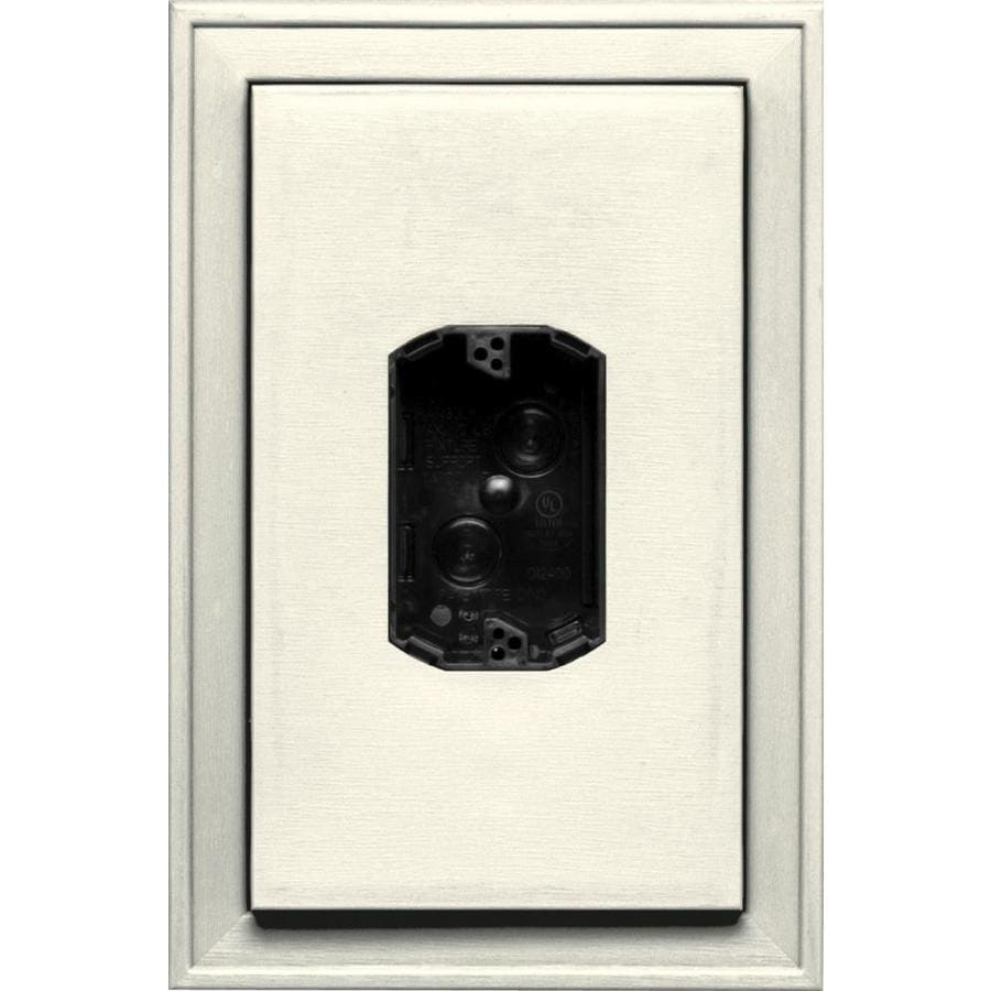 Builders Edge 8.125-in x 12-in Parchment Vinyl Electrical Mounting Block