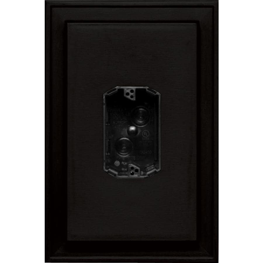 Builders Edge 8.125-in x 12-in Black Vinyl Electrical Mounting Block