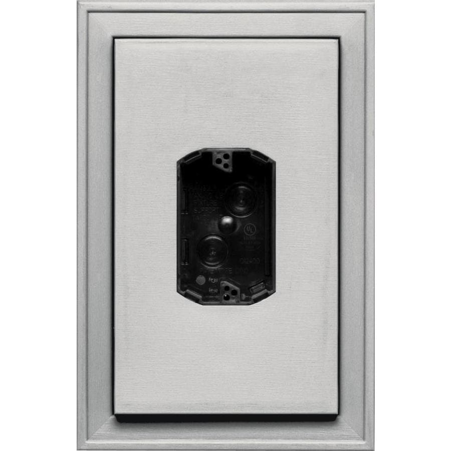 Builders Edge 8.125-in x 12-in Paintable Vinyl Electrical Mounting Block