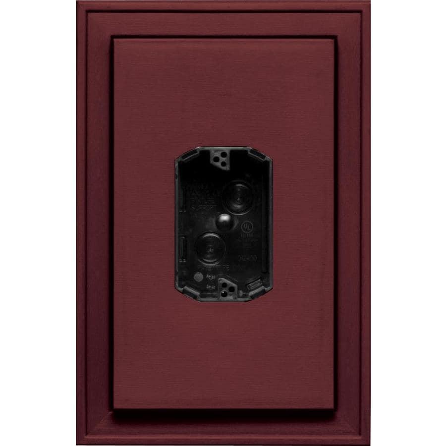 Builders Edge 8.125-in x 12-in Wineberry Vinyl Electrical Mounting Block