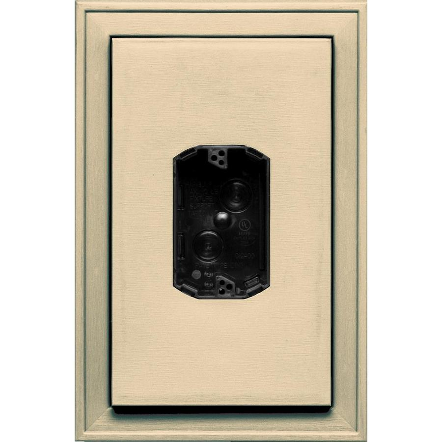 Builders Edge 8.125-in x 12-in Dark Almond Vinyl Electrical Mounting Block