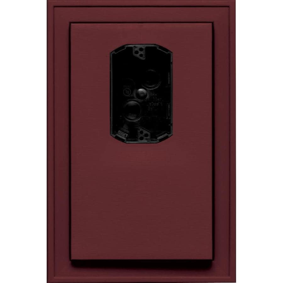 Builders Edge 8.125-in x 12-in Wineberry Vinyl Electrical Mounting Block
