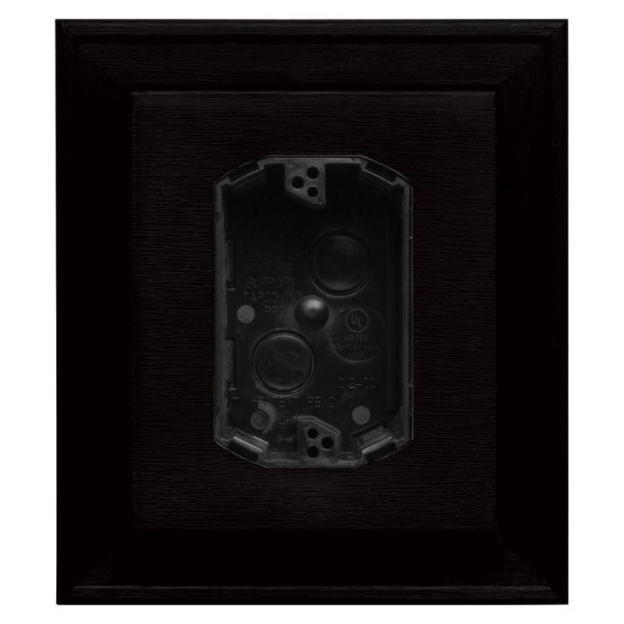 Builders Edge 7-in x 8-in Black Vinyl Electrical Mounting Block