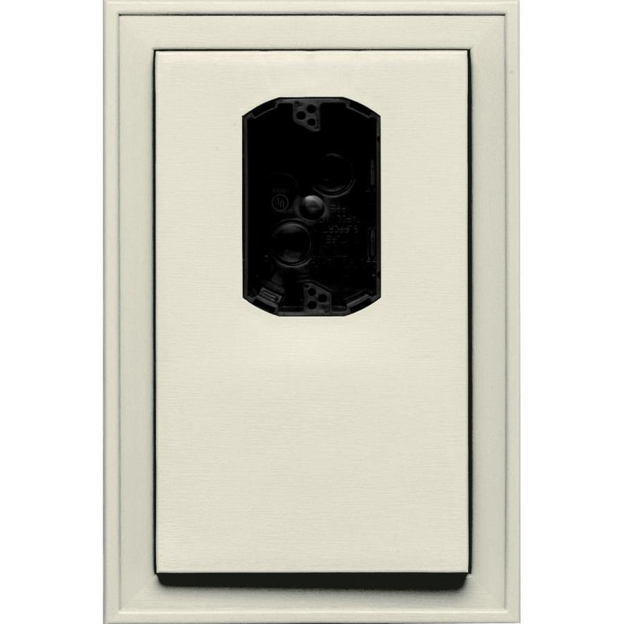 Builders Edge 8.125-in x 12-in Linen Vinyl Electrical Mounting Block
