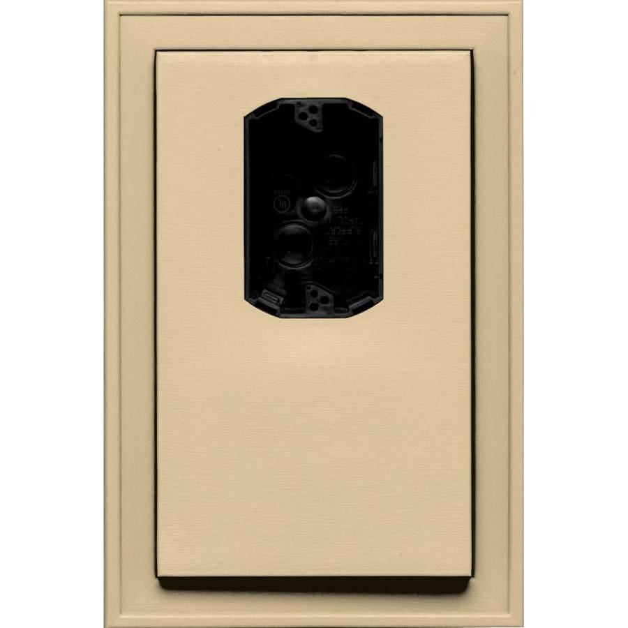 Builders Edge 8.1250-in x 12-in Dark Almond Vinyl Electrical Mounting Block