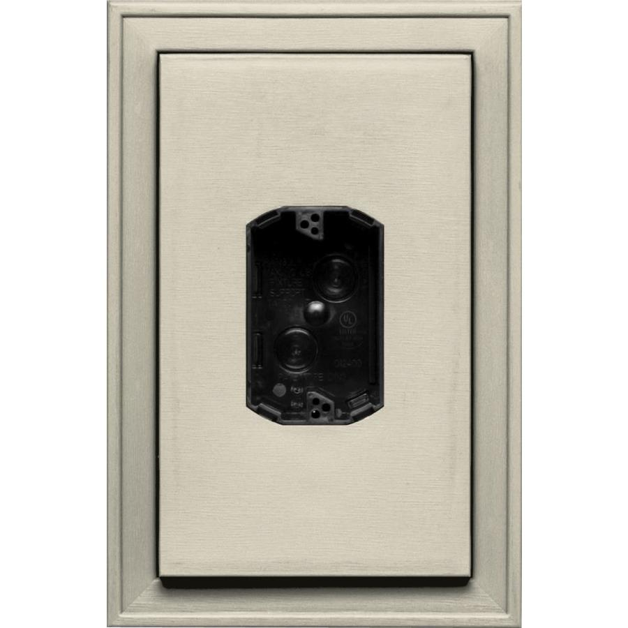 Builders Edge 8.125-in x 12-in Champagne Vinyl Electrical Mounting Block