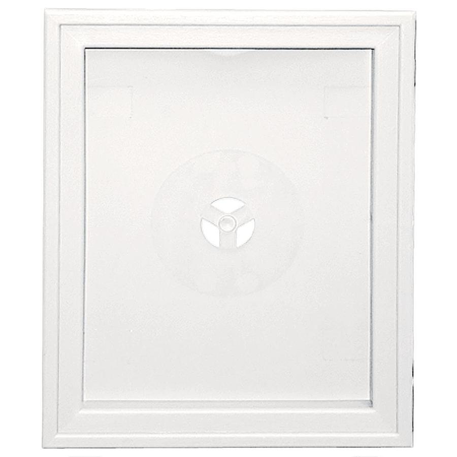 Builders Edge 6.75-in x 8.75-in Bright White Vinyl Universal Mounting Block