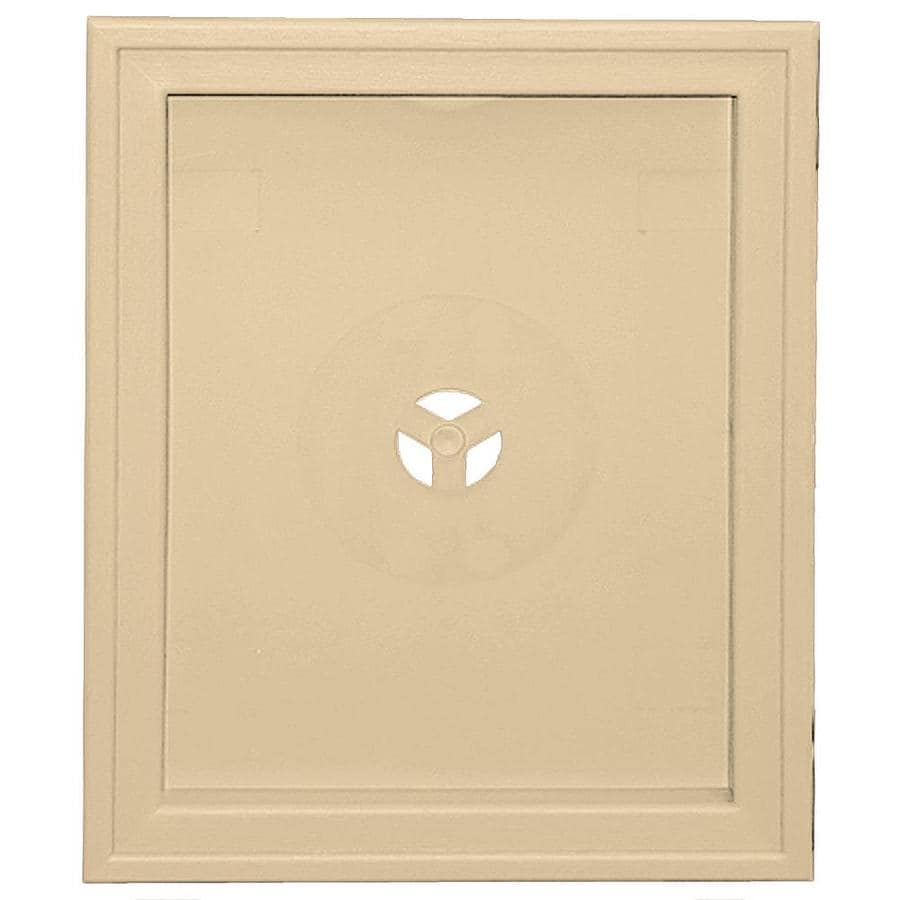 Builders Edge 6.75-in x 8.75-in Dark Almond Vinyl Universal Mounting Block