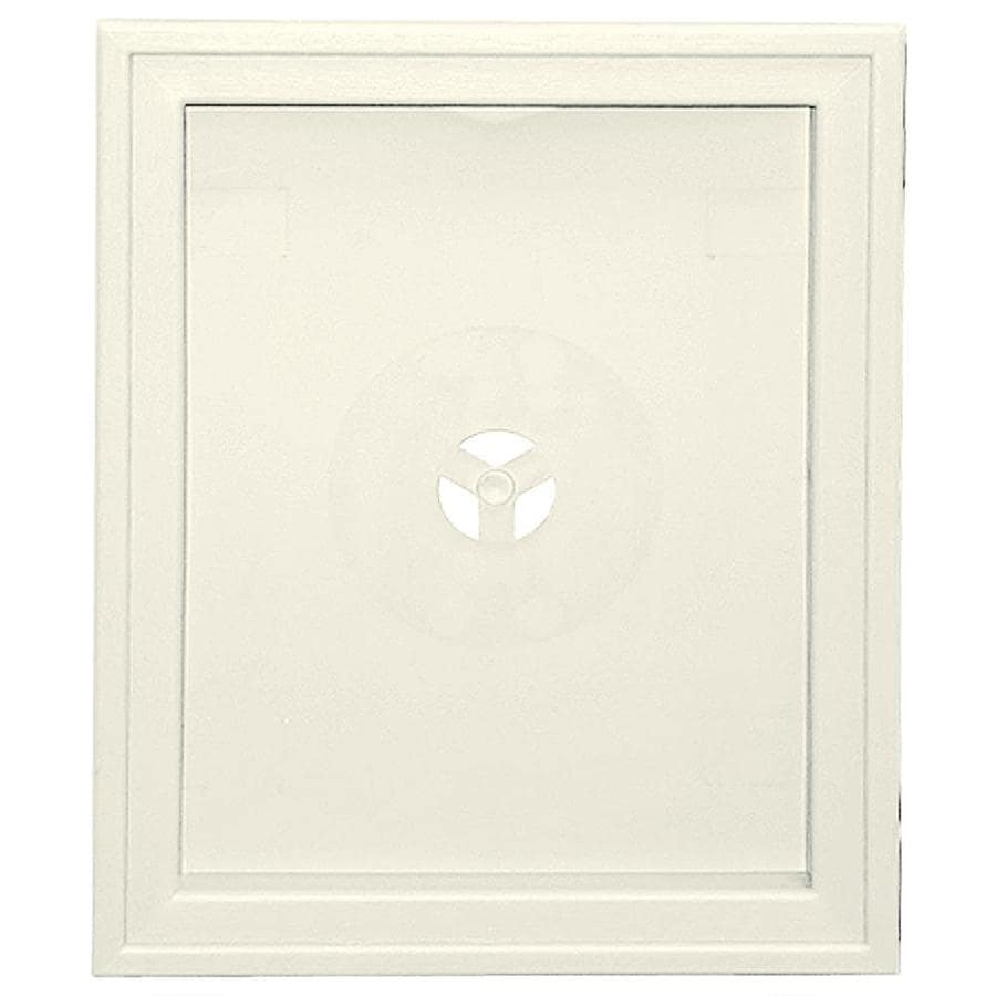 Builders Edge 6.75-in x 8.75-in Parchment Vinyl Universal Mounting Block