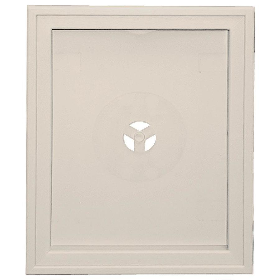 Builders Edge 6.75-in x 8.75-in Almond Vinyl Universal Mounting Block