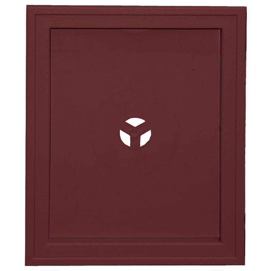 Builders Edge 6.75-in x 8.75-in Wineberry Vinyl Universal Mounting Block