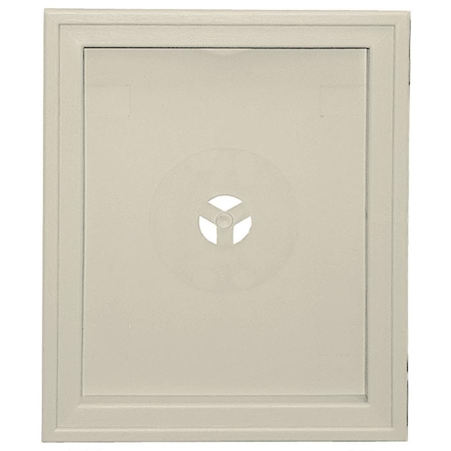 Builders Edge 6.75-in x 8.75-in Champagne Vinyl Universal Mounting Block