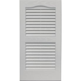 Vantage 2 Pack Paintable Louvered Vinyl Exterior Shutters Common 14 In X