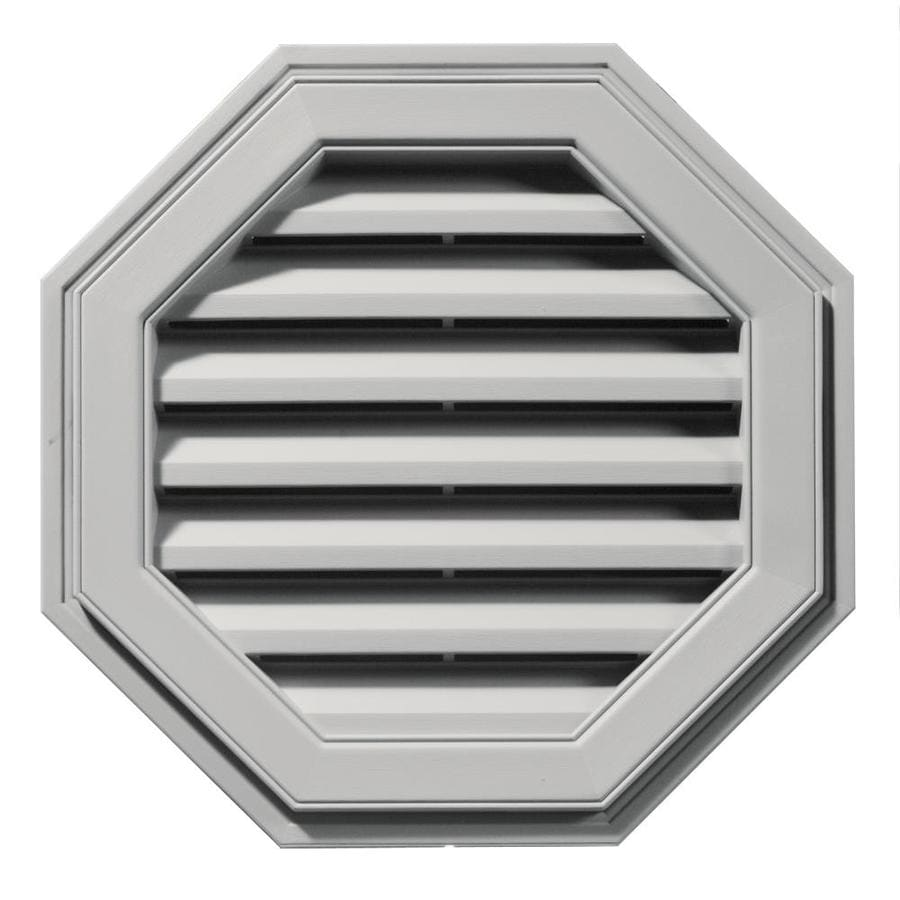 Builders Edge 8-in x 7-in Paintable Octagon Vinyl Gable Vent