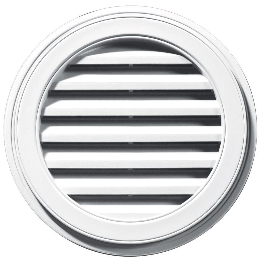 Builders Edge 8-in x 7-in White Round Vinyl Gable Vent