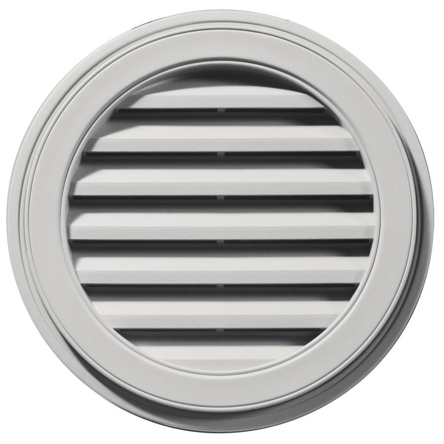 Builders Edge 22-in x 22-in Paintable Round Vinyl Gable Vent