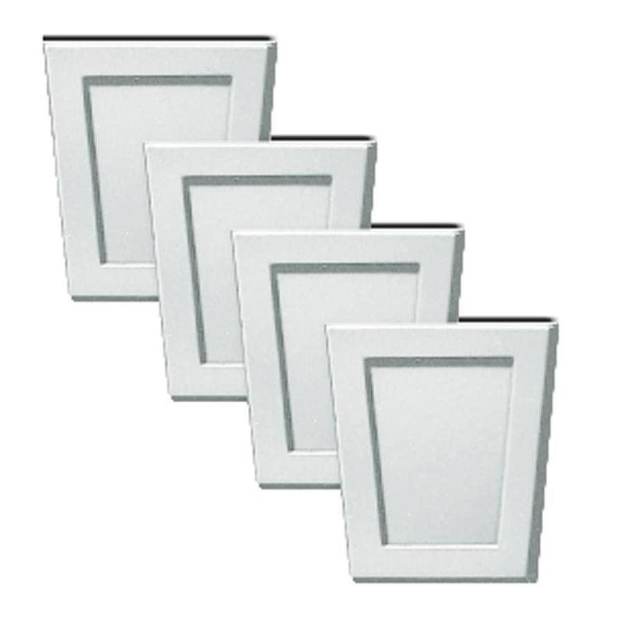 Builders Edge 4-Pack 4-in x 4.5-in Paintable Polystyrene Gable Vent Keystones