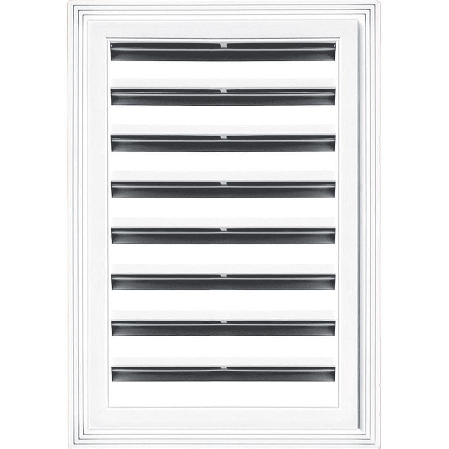 Builders Edge 14-in x 20-in White Rectangle Vinyl Gable Vent