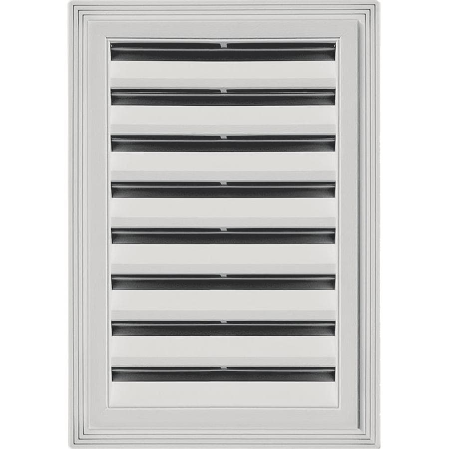 Builders Edge 14-in x 20-in Paintable Rectangle Vinyl Gable Vent