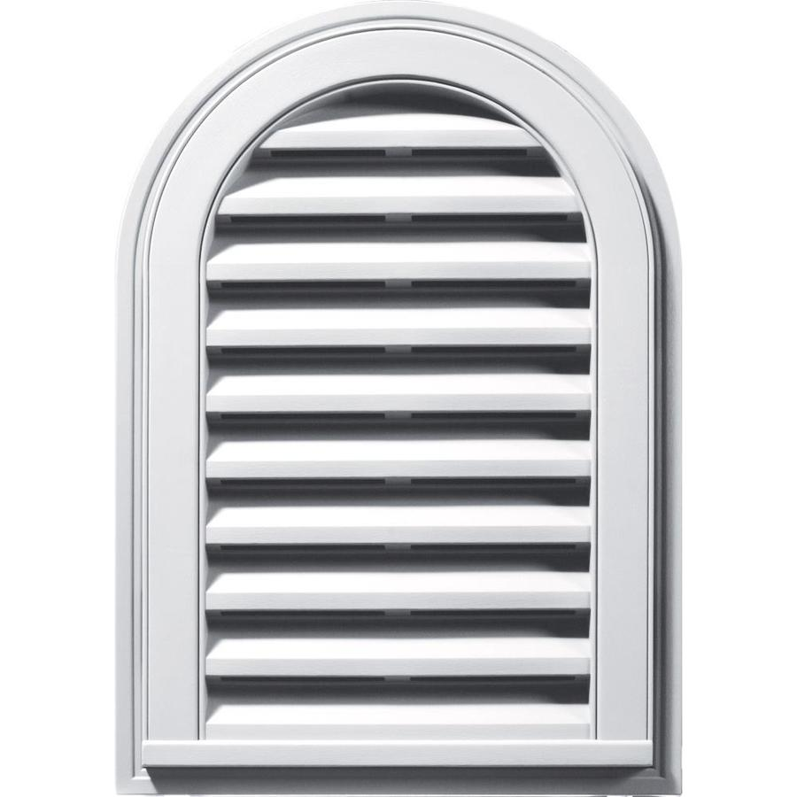 Builders Edge 16-in x 24-in White Round Top Vinyl Gable Vent