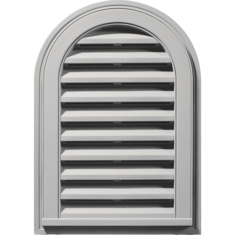 Builders Edge 8-in x 8-in Paintable Round Top Vinyl Gable Vent