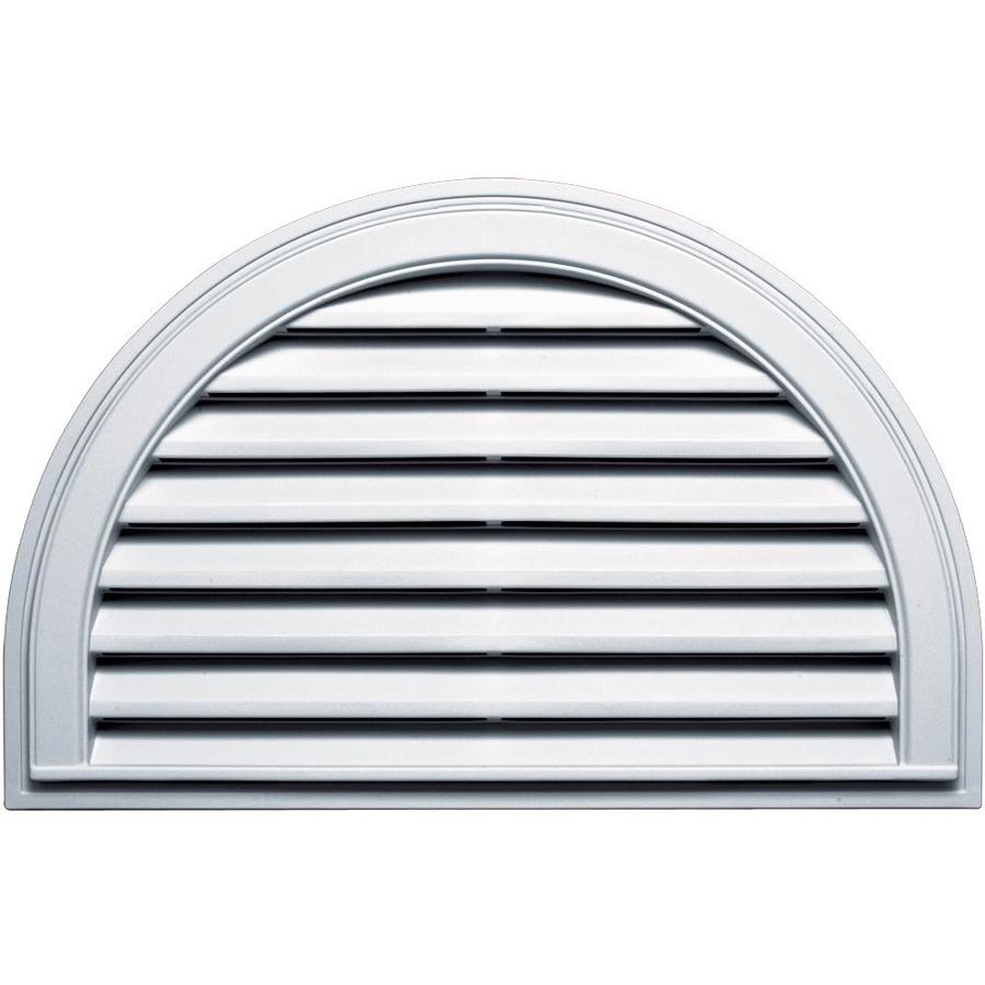 Builders Edge 34.2-in x 22.1-in White Half Round Vinyl Gable Vent