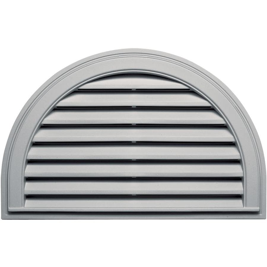 Builders Edge 34.2-in x 22.1-in Paintable Half Round Vinyl Gable Vent