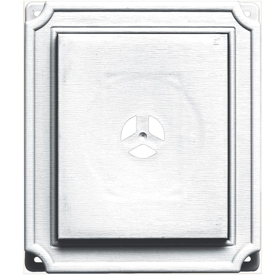 Builders Edge 7-in x 8-in White Vinyl Universal Mounting Block