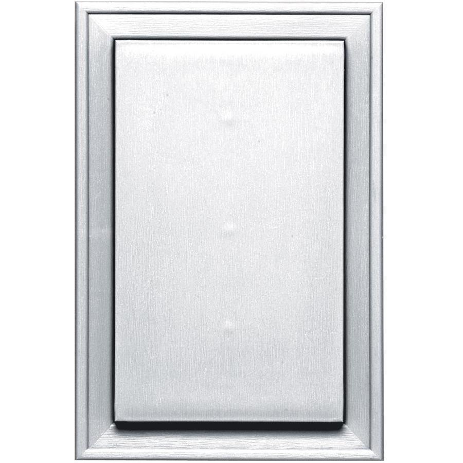 Builders Edge 8-in x 12-in White Vinyl Universal Mounting Block