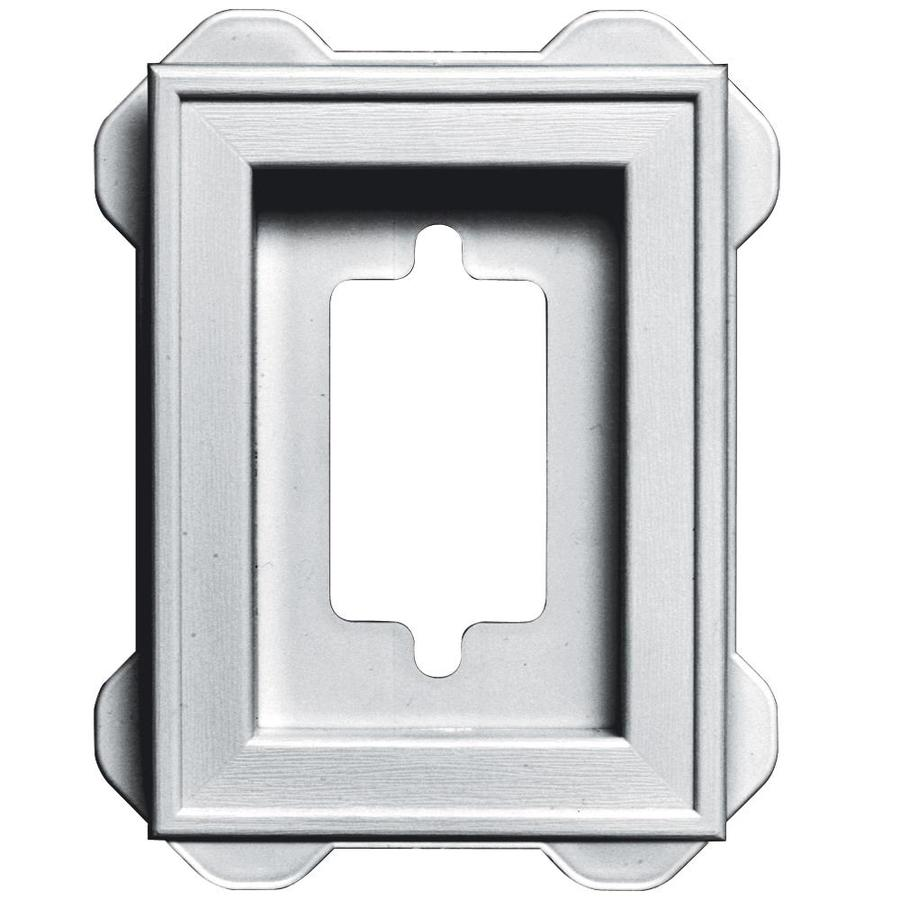 Builders Edge 5-in x 6.25-in White Vinyl Universal Mounting Block