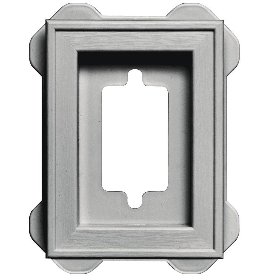 Builders Edge 5-in x 6.25-in Paintable Vinyl Universal Mounting Block