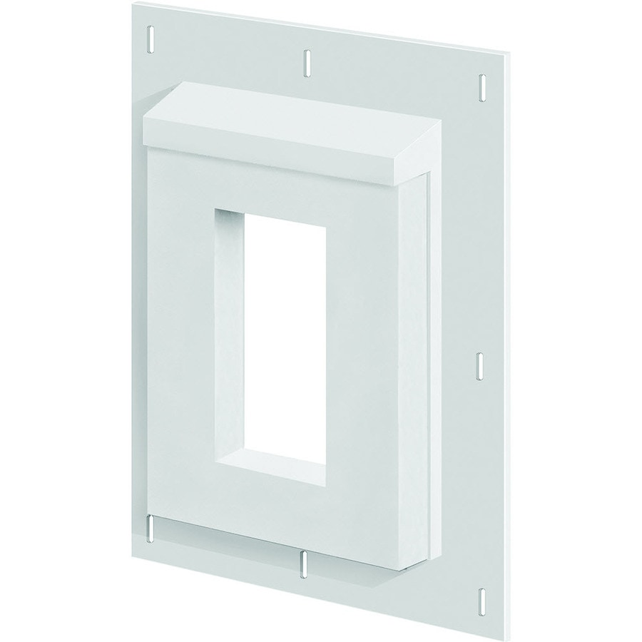 SturdiMount 9.08-in x 11.5-in Trim White Vinyl Electrical Mounting Block