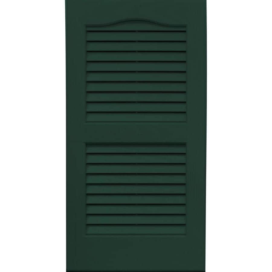 Vantage 2-Pack Midnight Green Louvered Vinyl Exterior Shutters (Common: 14-in x 27-in; Actual: 13.875-in x 26.6875-in)
