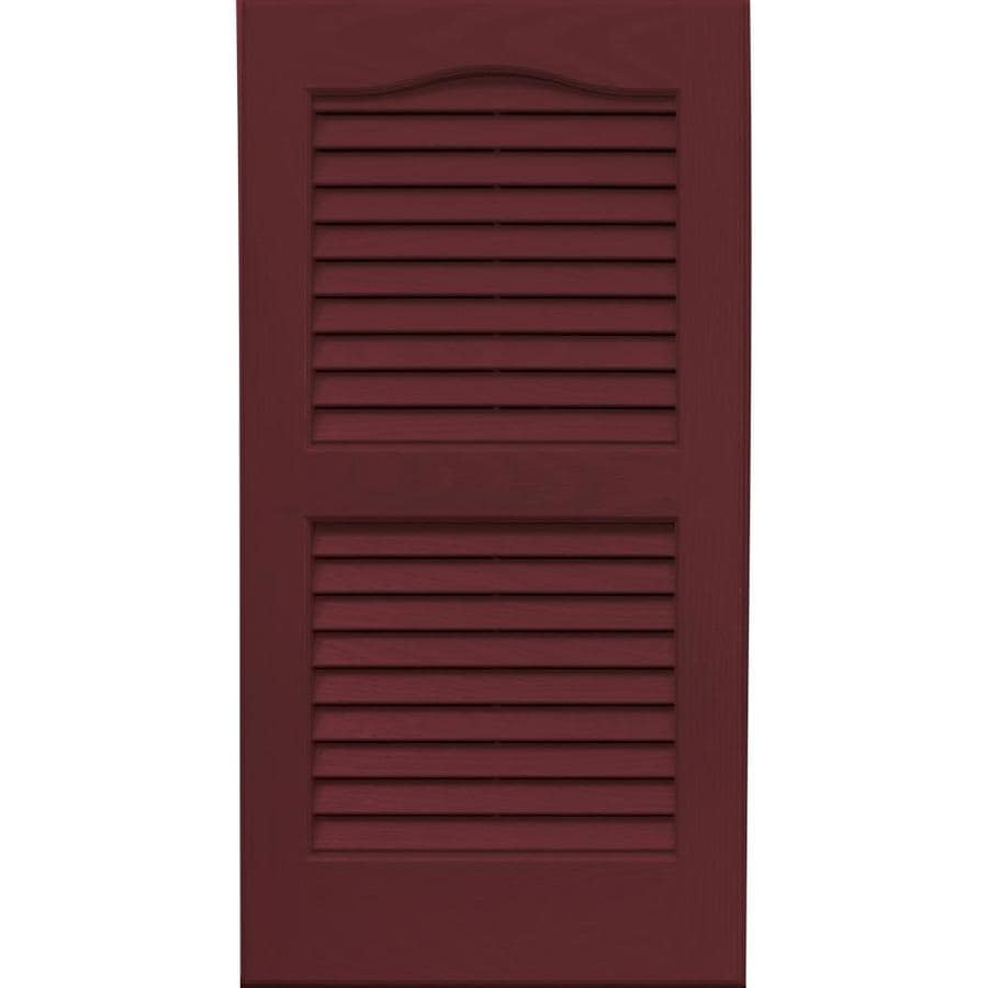 Vantage 2-Pack Cranberry Louvered Vinyl Exterior Shutters (Common: 14-in x 27-in; Actual: 13.875-in x 26.6875-in)