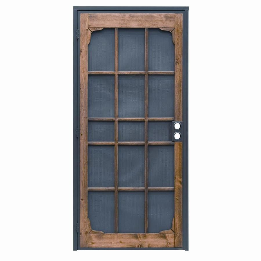 PRECISION Woodguard Oak Steel Security Door (Common: 35-in x 82-in; Actual: 35-in x 82-in)