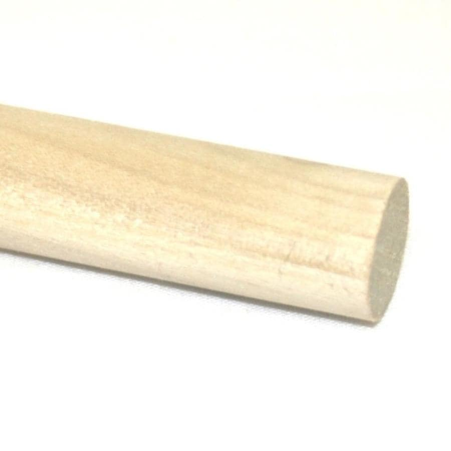 Madison Mill Round Poplar Dowel (Actual: 48-in L x 0.4375-in dia)