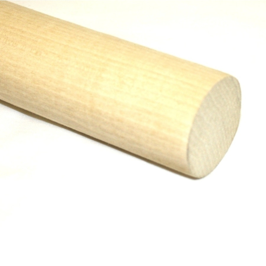 Madison Mill Round Wood Poplar Dowel (Actual: 48-in L x 1-in dia)
