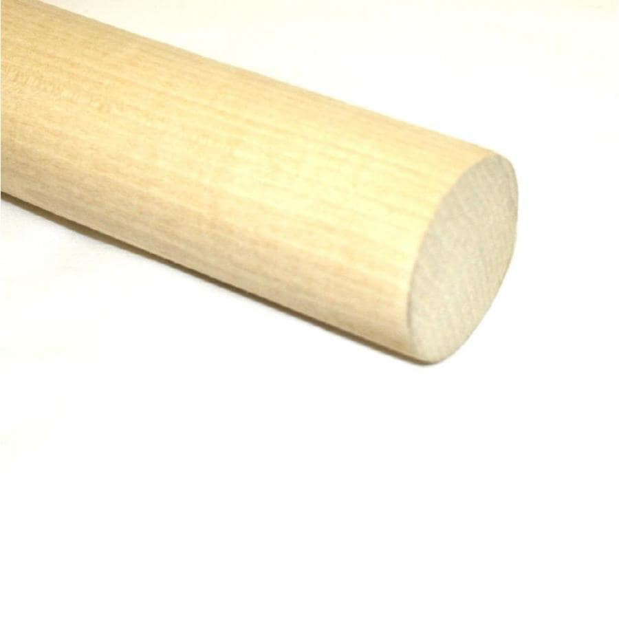 Madison Mill Round Wood Poplar Dowel Actual 48 In L X 1