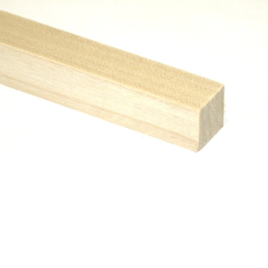Madison Mill Square Wood Poplar Dowel (Actual: 36-in L x 1-in dia)