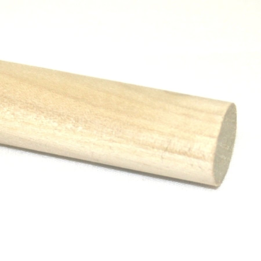 Madison Mill Round Wood Poplar Dowel (Actual: 72-in L x 0.75-in dia)