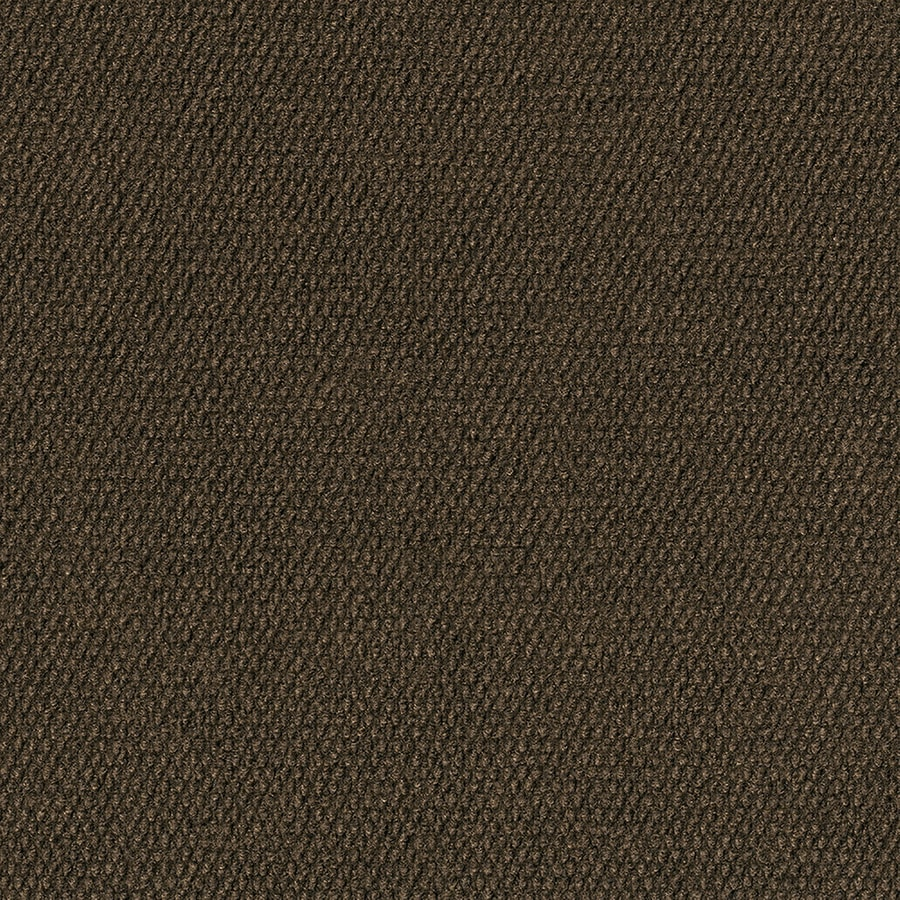 Wallagrass 16-Pack 18-in x 18-in Mocha Needlebond Peel-and-Stick Carpet Tile